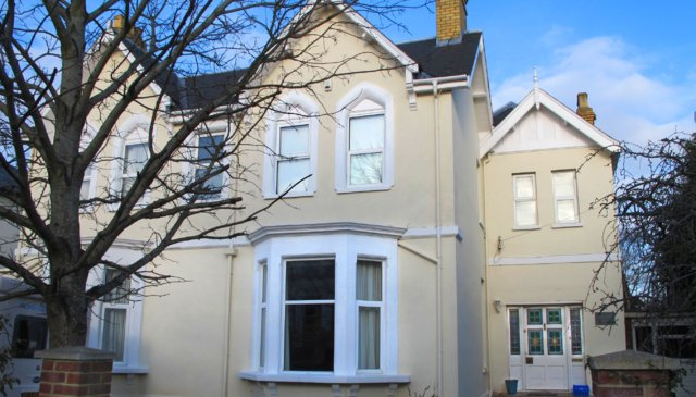 large Victorian property in Cheltenham Spa with heated pool