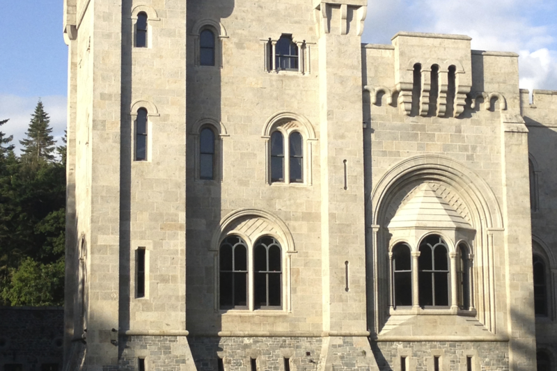 Gosford Castle, one of the most remarkable buildings in Ireland.